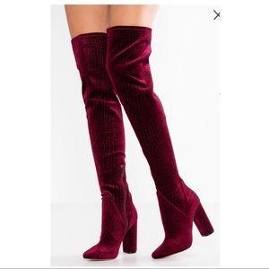 Aldo Size 5 Tenehsa Velvet Over the Knee Boots